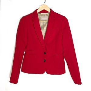 Banana Republic red tailored blazer